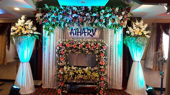 naming ceremony flower stage decorations