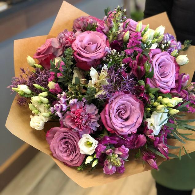 Vázané kytice 14