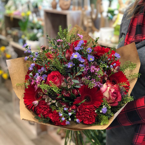 Vázané kytice 15