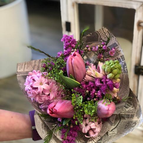 Vázané kytice 10