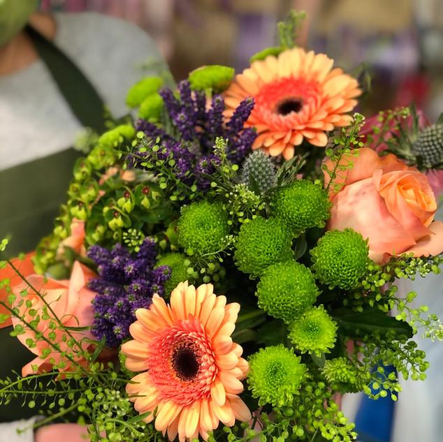Vázané kytice 17