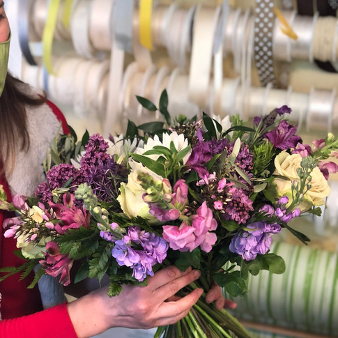Vázané kytice 12