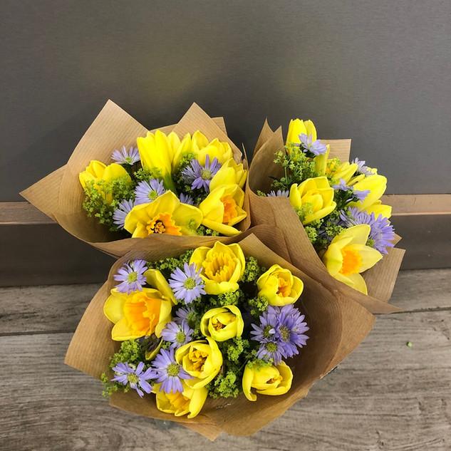 Vázané kytice 19