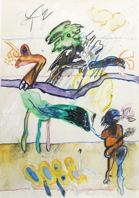 Autor: Bonifacio Título: Sin título Año: 1973 Técnica mixta sobre papel Tamaño: 24 x 34 cm