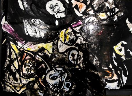Autor: Bonifacio Título: Sin título Año: 1979 Técnica: Técnica mixta sobre papel Tamaño: 30 x 40 cm