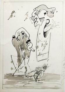 Autor: Bonifacio Título: Sin título Año: 1979 Técnica mixta sobre papel Tamaño: 21 x 29 cm