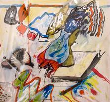 Autor: Bonifacio Título: Sin título Año: 1975 Técnica mixta sobre papel Tamaño: 27,5 x 25,5 cm