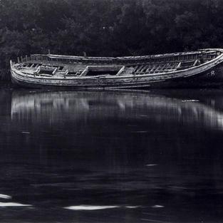 Lancha varada. Niembro, Llanes 1986