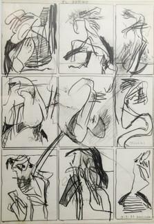Autor: Bonifacio Título: Sin título Año: 1975 Lapiz graso sobre papel Tamaño: 23,5 x 34 cm