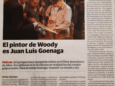 Juan Luis Goenaga en el Diario Vasco