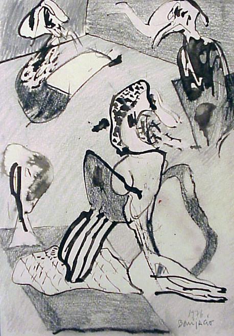 Autor: Bonifacio Título: Sin título Año: 1976 Técnica: Técnica mixta sobre papel Tamaño: 30 x 21 cm