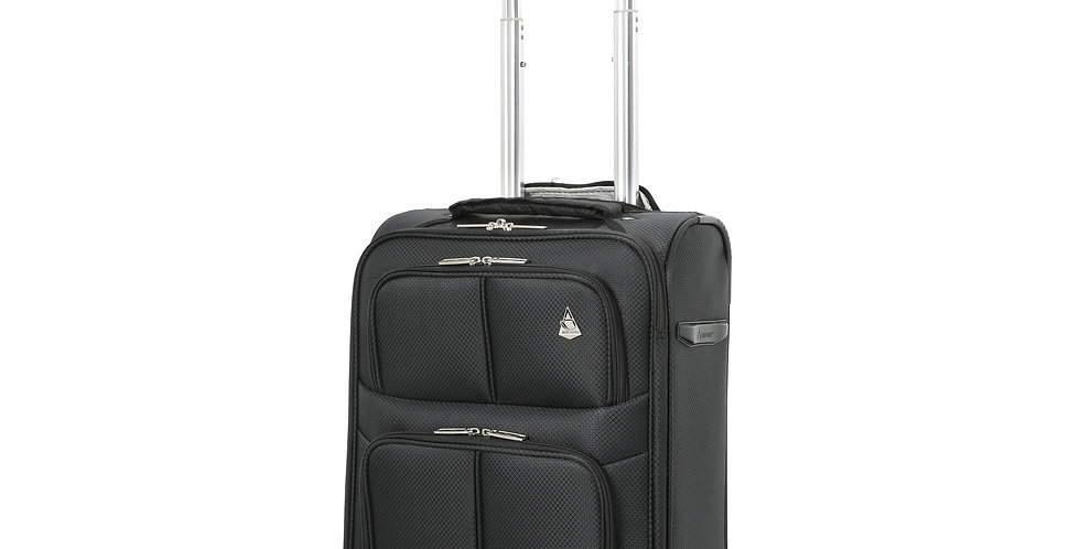 Aerolite | 9611 Black Ultra Lightweight Travel Carry on | 55x35x20cm