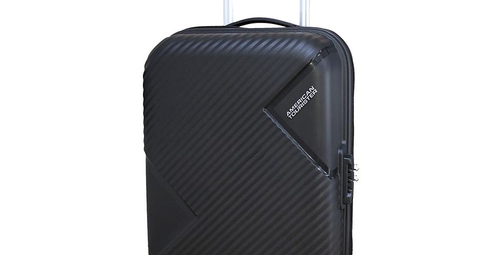 American Tourister - Zakk Black Cabin Hand Luggage 55cm