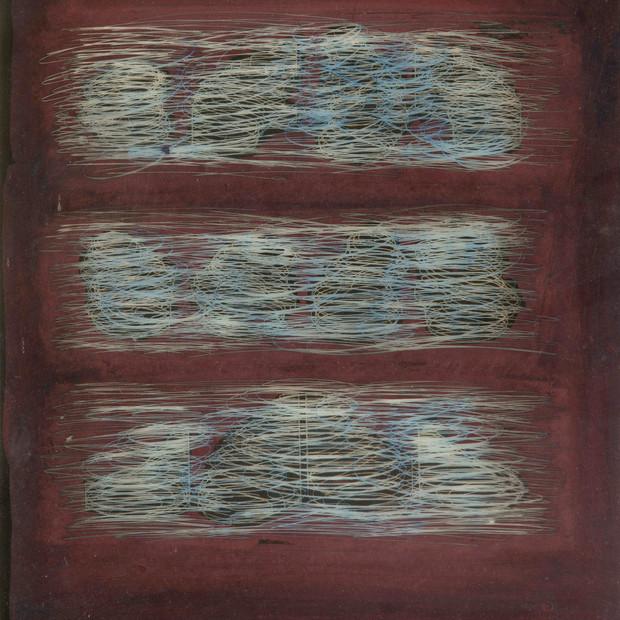Destrucción adrede 1976 Pintura acrílico sobre papel 29,5 cm x 23,5 cm