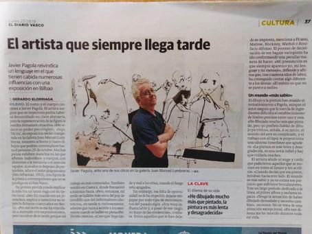 Nuestro artista Javier Pagola en el Diario Vasco