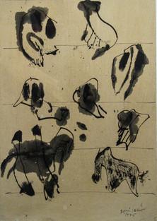 Autor: Bonifacio Título: Sin título Año: 1995 Técnica mixta sobre papel Tamaño: 21 x 30 cm