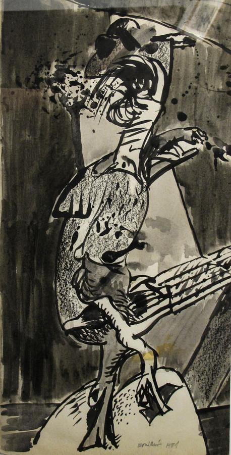 Autor: Bonifacio Título: Sin título Año: 1981 Técnica mixta sobre papel Tamaño: 23 x 47 cm