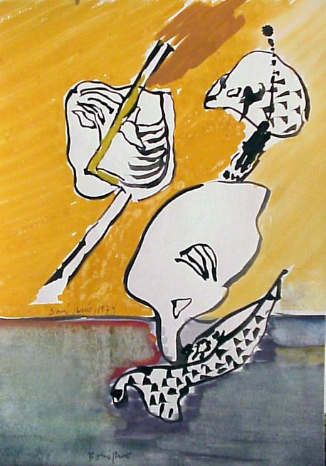Autor: Bonifacio Título: Sin título Año: 1979 Técnica: Técnica mixta sobre papel Tamaño: 30 x 21 cm