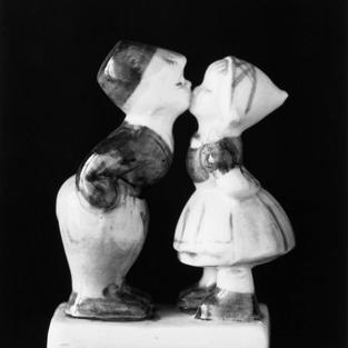 Un beso en porcelana.Gijón. 2017