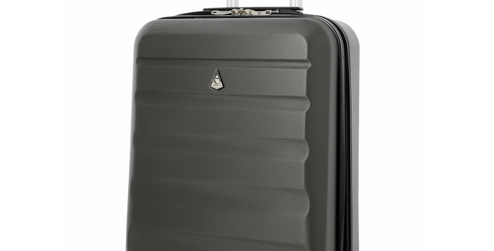 Aerolite | Charcoal 4 Wheel Spinner Cabin Hand Luggage | 55x40x20cm