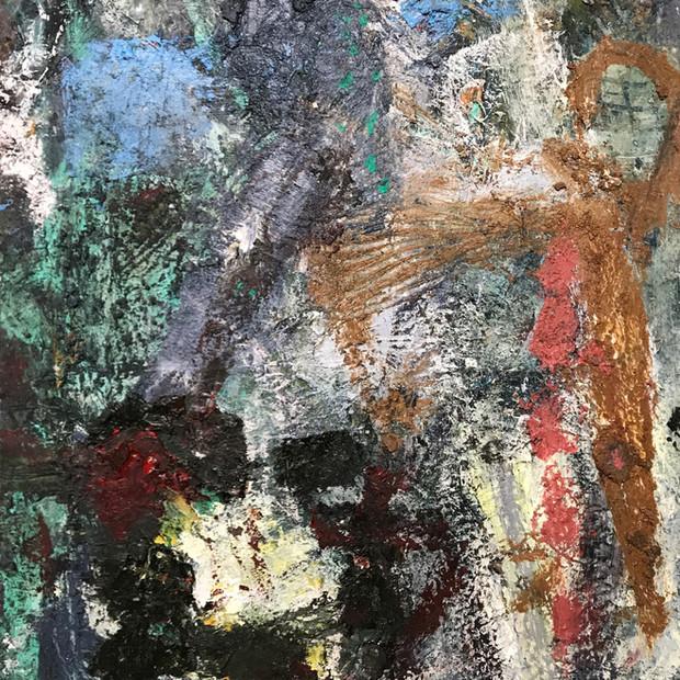 Ezkubi okre 56 cm x 75 cm Óleo y pigmentos sobre papel eskulan 1.800 €