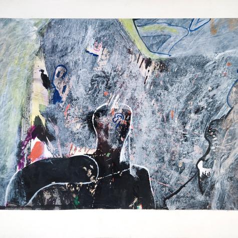 Técnica mixta Dibujo: 22 x 29 cm Marco: 28 x 27 cm 2.200 €