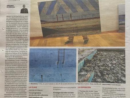 El periódico El Correo realza la obra de nuestro querido Cano Erhardt en Bilbao.
