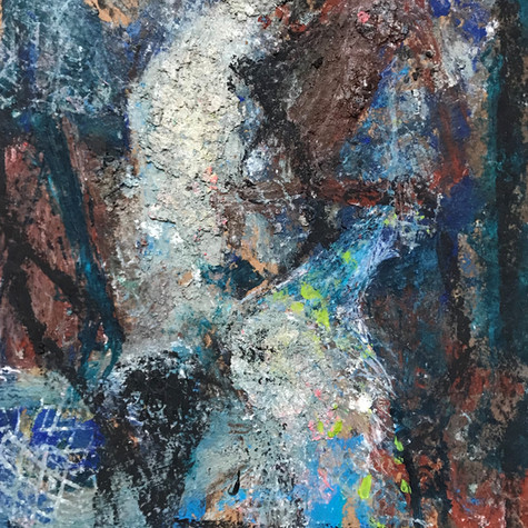 Astilum 56 cm x 77 cm Óleo y pigmentos sobre papel eskulan 1.800 €