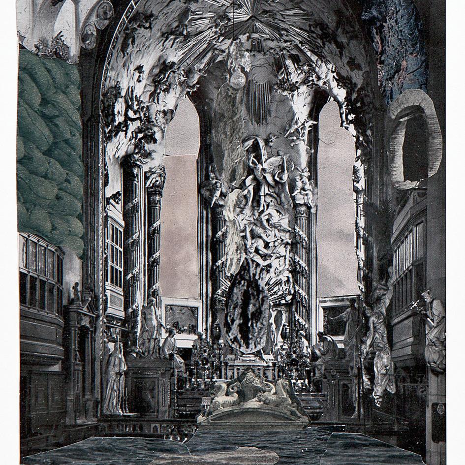Capilla de la Diosa 2009 Collage sobre papel 28 x 20 cm 1.000 €