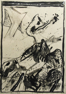 Autor: Bonifacio Título: Sin título Año: 1975 Técnica mixta sobre papel Tamaño: 20,5 x 29,5 cm