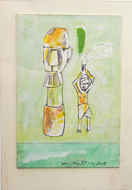 Autor: Bonifacio Título: Sin título Año: 1978 Técnica mixta sobre papel Tamaño: 17,5 x 23,5 cm