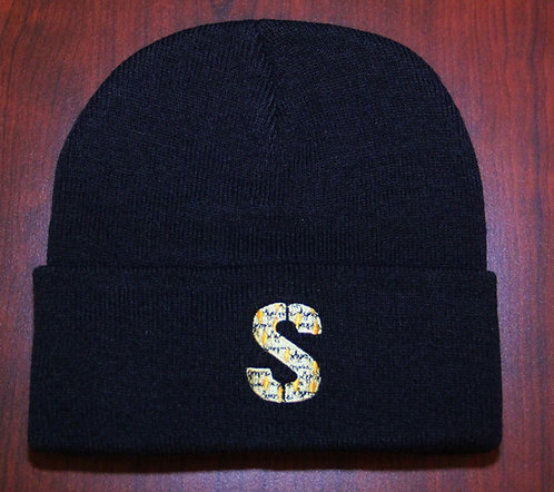 "Black Beanie - ""S"" Logo"