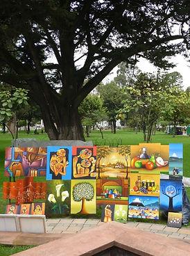 Feria de arte en la calle. Quito