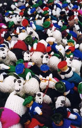 artesanías tejidas. Otavalo, Ecuador