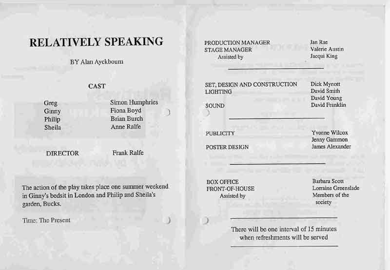Relatively Speaking 1992 programme .jpg