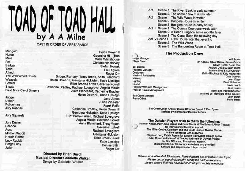 Toad of Toad Hall 2005 programme .jpg