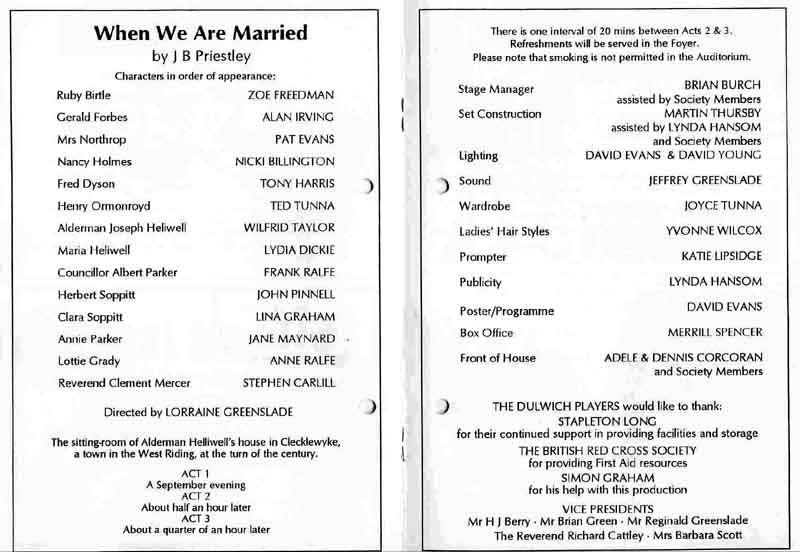 When We Are Married 1997 programme .jpg