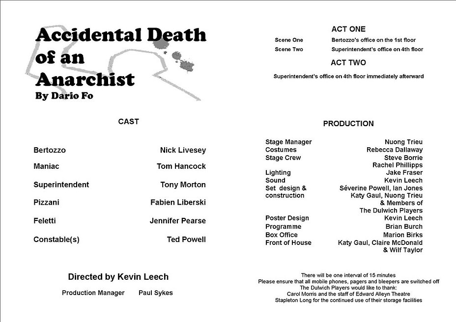 Accidental Death of an Anarchist 2008 programme .jpg