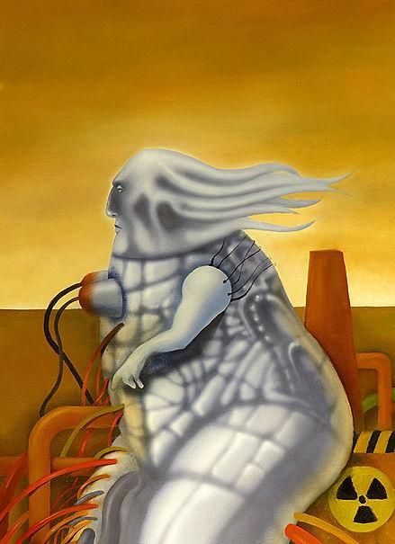 Wind power, surrealist art