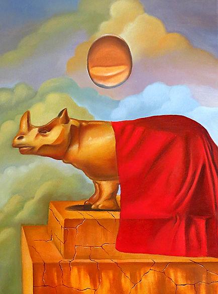 Rhino Egg, contemporary surrealism