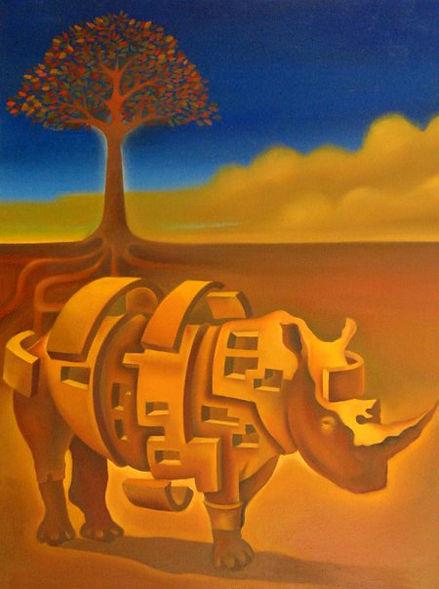Rhino, contemporary surrealism