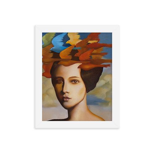 Wig of larks Framed poster