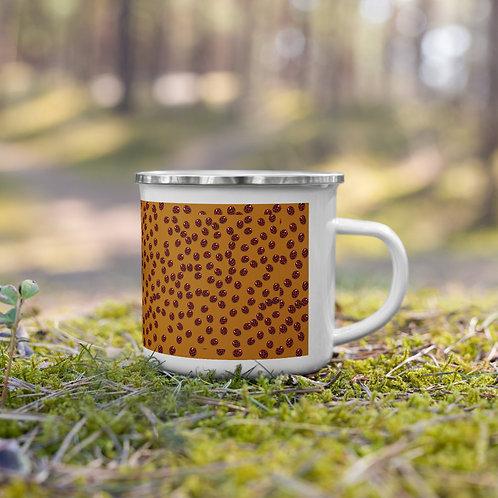 Ladybug Enamel Mug