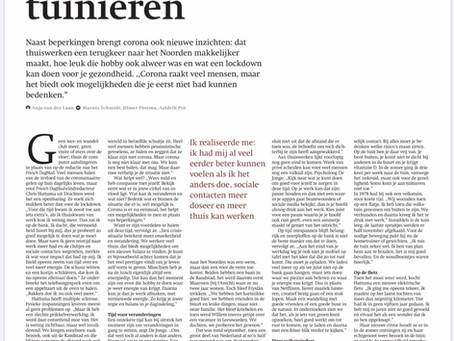 Corona: kansen en reflectie - interview Friesch Dagblad