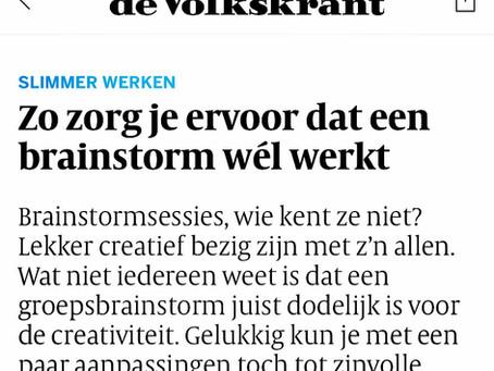 Zo zorg je ervoor dat een brainstorm wél werkt - een interview met mij in de Volkskrant 💡