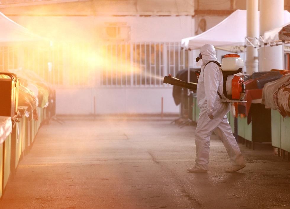 Coronavirus Quarantine. Disinfection, de