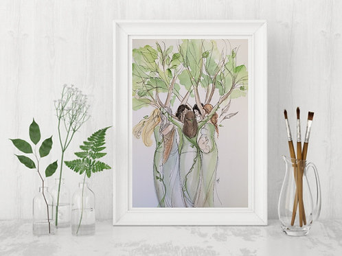 Tree Tribe -Signed Giclee Print