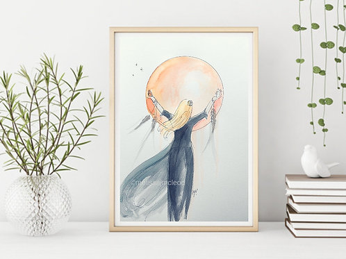 Moon Goddess Blond -Signed Giclee Print