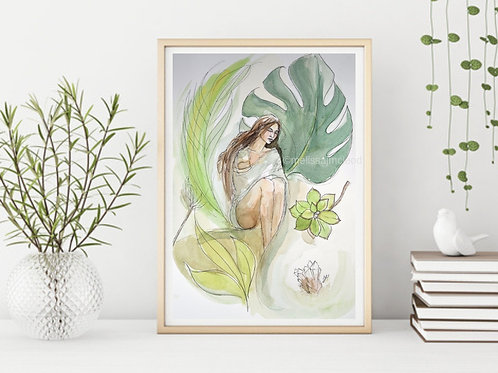 Nature Goddess -Signed Giclee Print