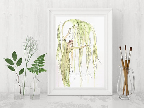 Willow Tree Woman -Signed Giclee Print